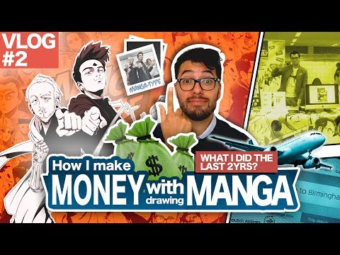 MAKING MONEY WITH DRAWING MANGA !! [VLOG] [#02]
