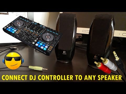 how-to-connect-dj-controller-to-any-speaker!!!!!!!!!!