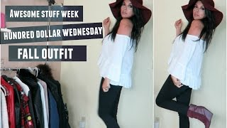 Awesome Stuff Week: Hundred Dollar Wednesday | Off the Shoulder Fall Outfit
