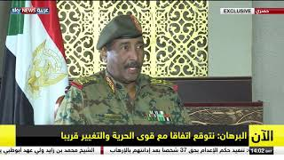 البرهان: السعودية والإمارات ومصر لديهم جهود مقدرة للخروج من الوضع الاقتصادي المتردي