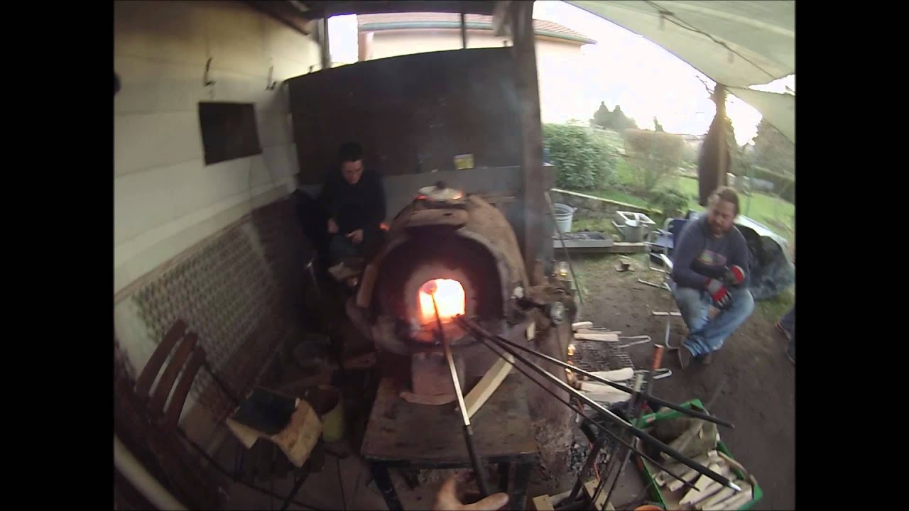 Glass Blowing With Wood Furnace Youtube