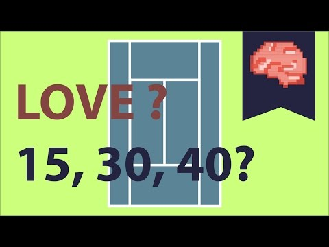 In tennis, why is the score count 0 (love) 15 30 40?