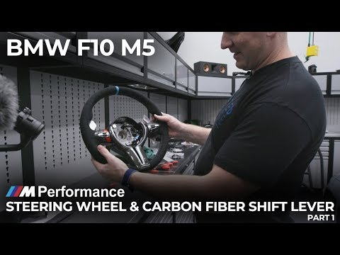 BMW F10 M5 M Performance Steering Wheel and Carbon Fiber Shift Lever - Part 1