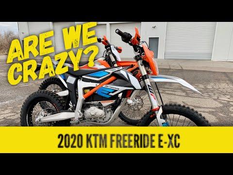 2020 KTM Freeride E-XC Electric Dirt Bike Box Opening