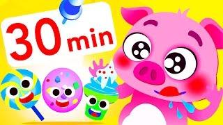 Candy Land! Gummy Bear, Banana Car, Lollipop, Baby Shark by Little Angel: Nursery Rhymes & Songs