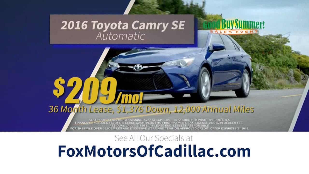 Fox Toyota Of Cadillac   Good Buy Summer
