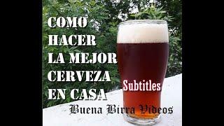 Cómo hacer la mejor Cerveza Artesanal en casa... Hoy Scottish Export (BIAB) Subtitles