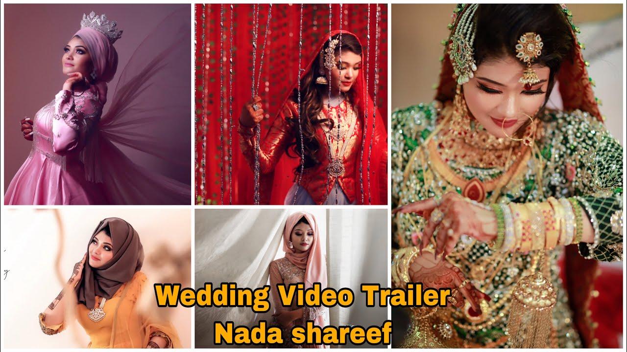 Our Wedding video Trailer 👰 | NADA SHAREEF  | Gulabi Night| Arabic Night | Mehendi Day |Wedding Day