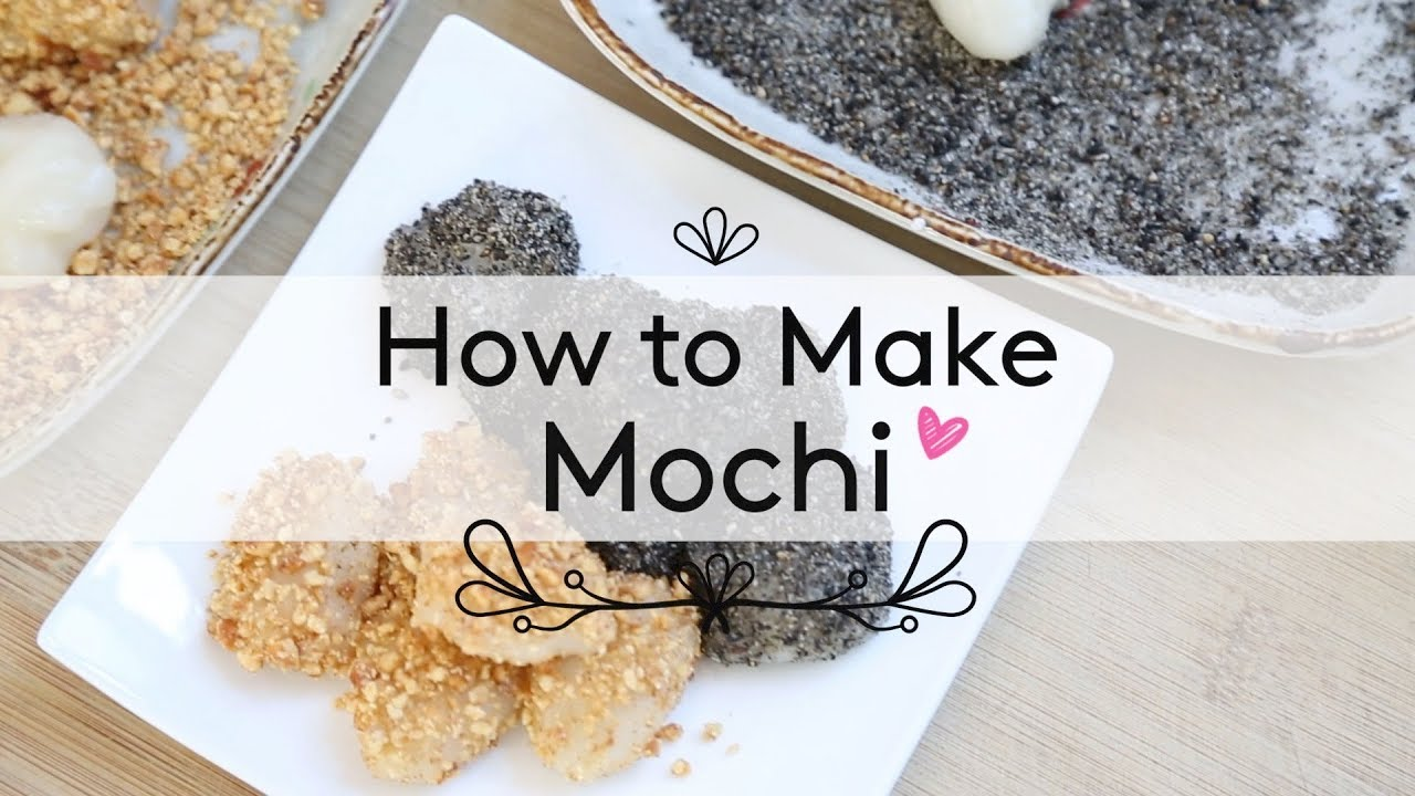 How to Make Mochi ♥ Honey Roasted Peanut & Black Sesame - YouTube