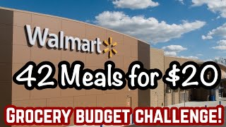 42 MEALS FOR $20! | EMERGENCY EXTREME GROCERY BUDGET CHALLENGE !| TIPS TO SAVE MONEY | JULIA PACHECO