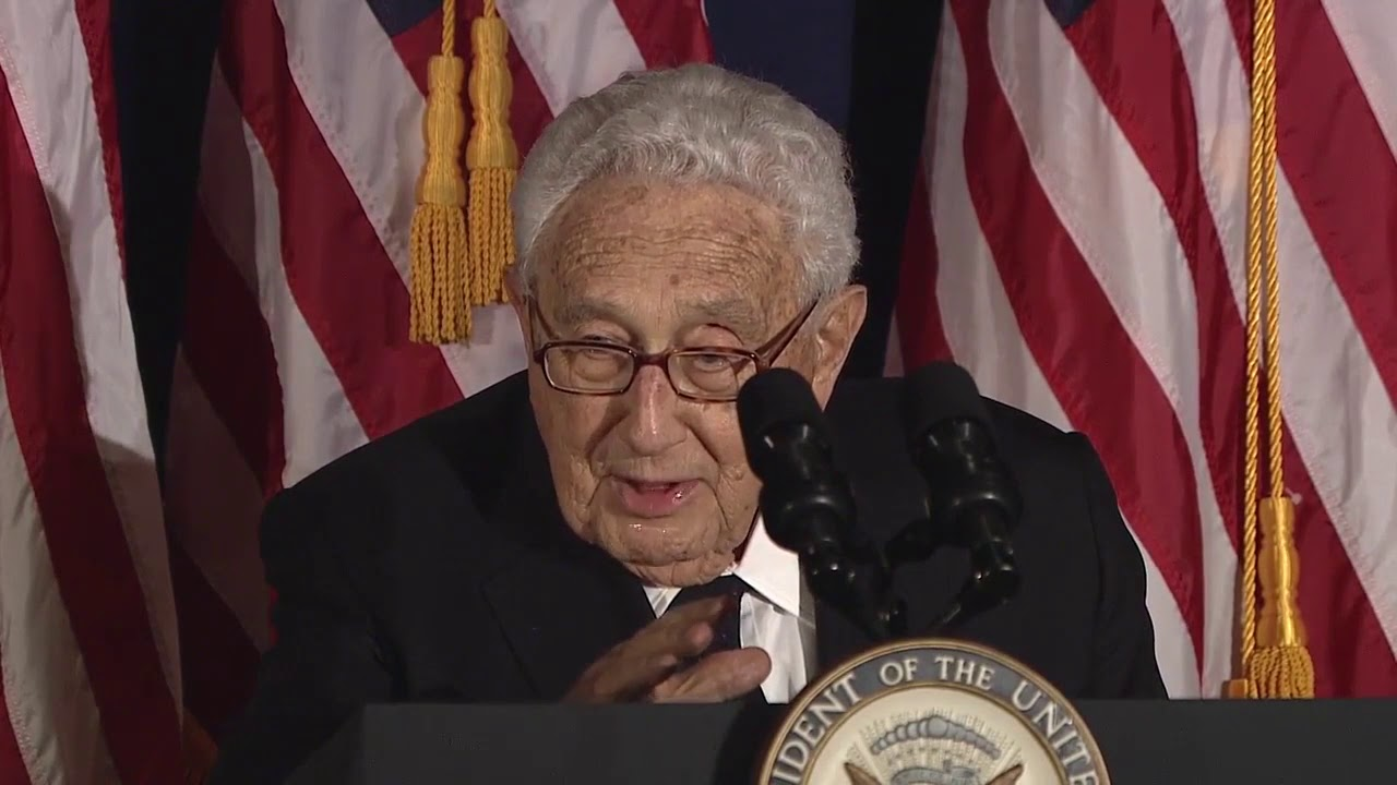 Henry Kissinger and World Jewish Congress honor Joe Biden (2016)