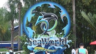 Full Tour Of SeaWorld Orlando Florida in 50 minutes 2015