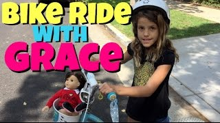 American Girl Doll Grace Goes For A Bike Ride