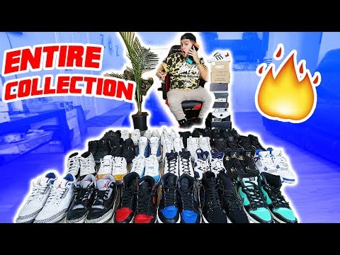 MY ENTIRE SNEAKER COLLECTION 2018!! (WORTH THOUSANDS OF DOLLARS)