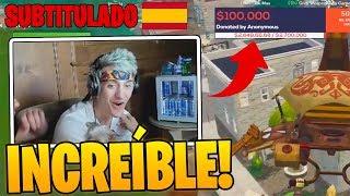 Ninja recibe *DONACIÓN* DE $100,000 DÓLARES PARA HACERSE TATUAJE! - Momentos Divertidos en Fortnite thumbnail