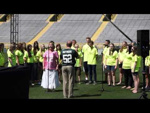 UW-Green Bay Music Campers Sing at Lambeau Field