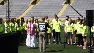 UW-Green Bay Music Campers Sing at Lambeau Field