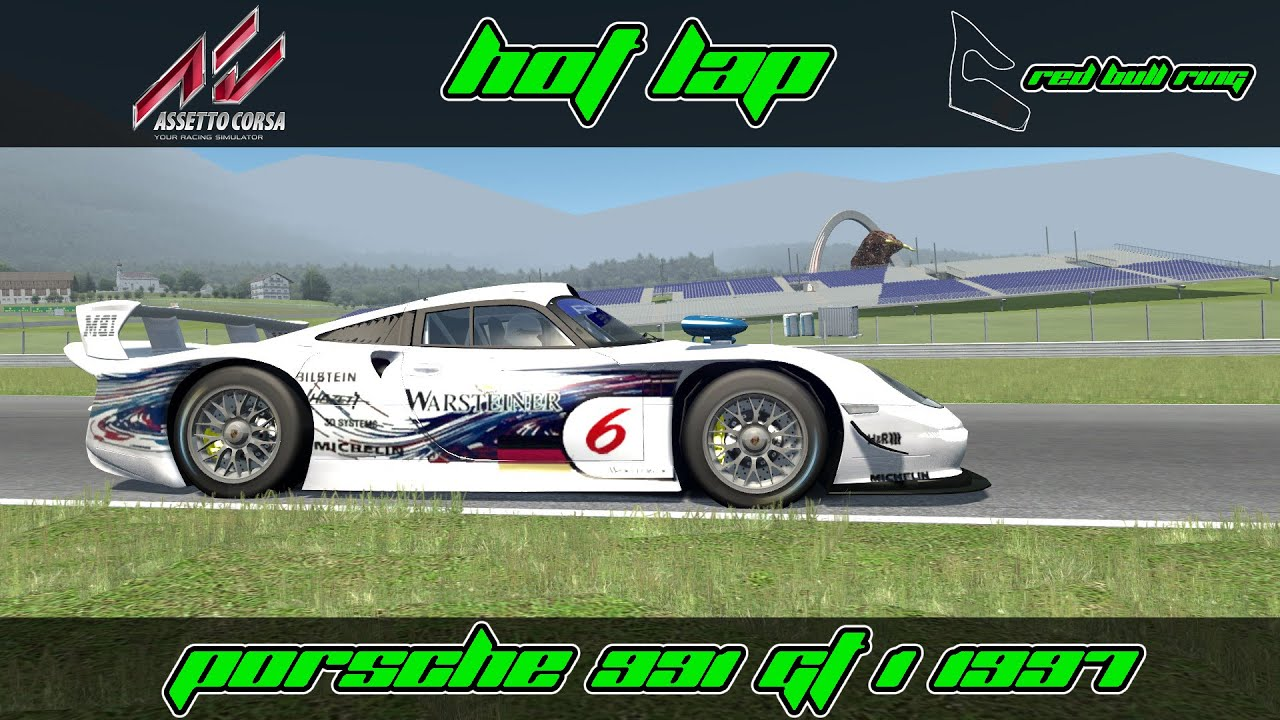 assetto corsa porsche 997 gt1 1997 red bull ring hotlap youtube. Black Bedroom Furniture Sets. Home Design Ideas