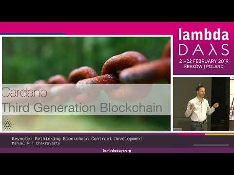 Manuel M T Chakravarty - Keynote - Rethinking Blockchain Contract Development | Lambda Days 19