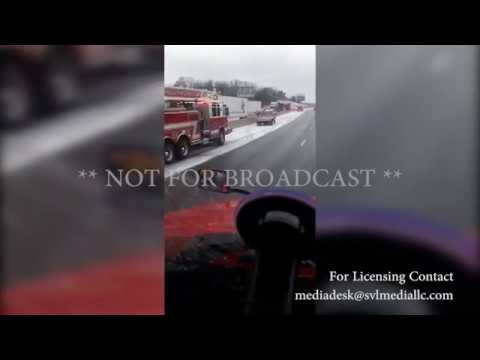 Pile up near Rolla, Missouri on I-44 from ice and snow covered roads.