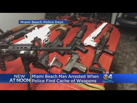 Weapons Cache Found During Miami Beach Disturbance Call