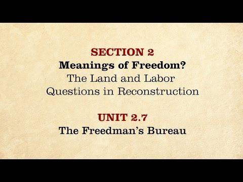 MOOC | The Freedman's Bureau | The Civil War And Reconstruction, 1865-1890 | 3.2.7