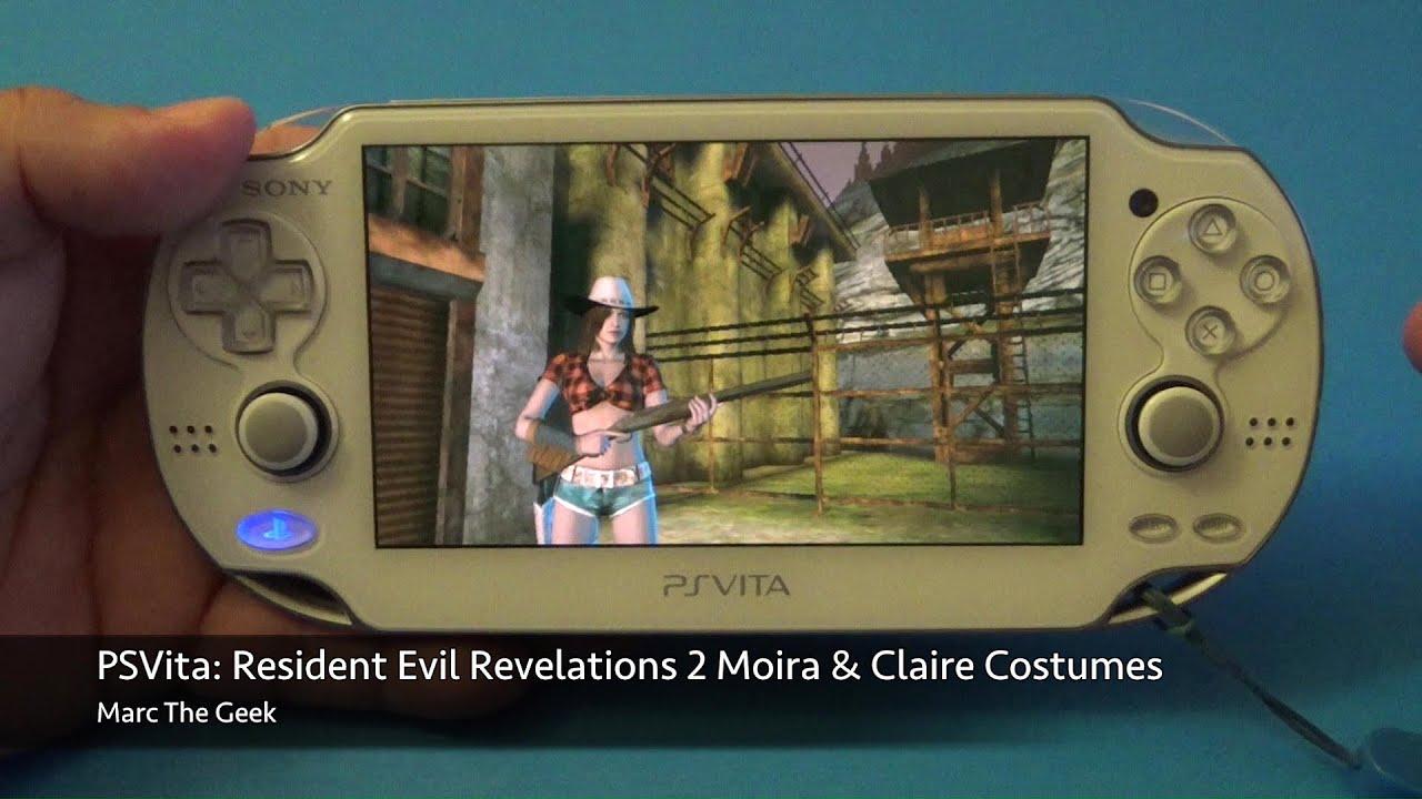 psvita: resident evil revelations 2 moira & claire costumes - youtube