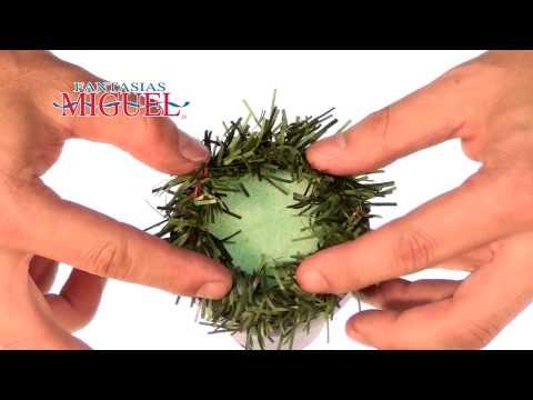 Como hacer una corona de adviento youtube - Como hacer coronas de navidad ...