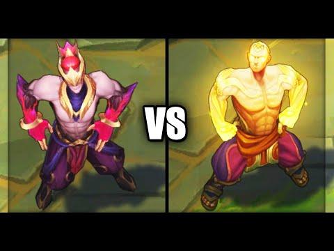 Nightbringer Lee Sin vs God Fist Lee Sin Legendary vs Epic Skins Comparison (League of Legends)