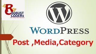 Wordpress in hindi part-5| Wordpress Post ,Media ,Category ,Tag|How to create new post in wordpress