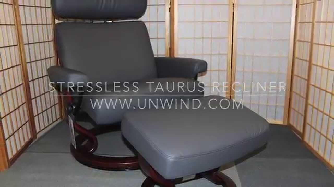 Ekornes Stressless Taurus Recliner- Rock Paloma Leather   Walnut Stained - YouTube & Ekornes Stressless Taurus Recliner- Rock Paloma Leather   Walnut ... islam-shia.org