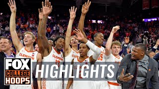 No. 3 Duke gets knocked off by Clemson, 79-72 | FOX COLLEGE HOOPS HIGHLIGHTS