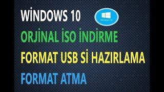 Windows 10 Format (Orjinal İso indirme)