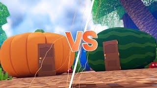 Minecraft: CASA DE ABOBORA VS. CASA DE MELANCIA  ‹ JUAUM ›