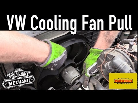 How To Remove A VW Cooling Fan ~ Salvage Yard Tips