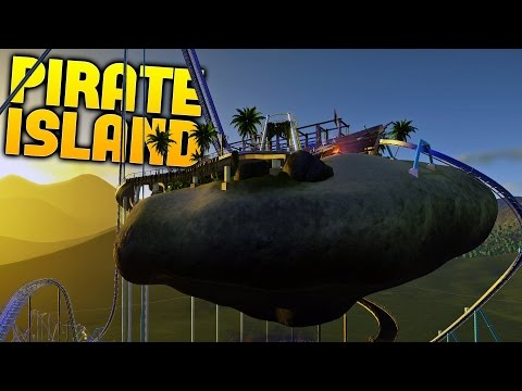 Planet Coaster - Floating Pirate Island Roller Coaster! - Planet Coaster Gameplay Highlights