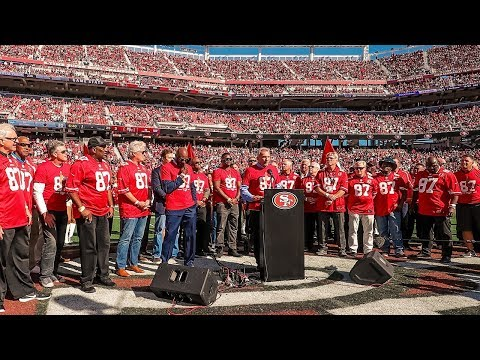 49ers Honor Dwight Clark at Halftime