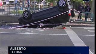Espectacular accidente en las primeras horas del lunes