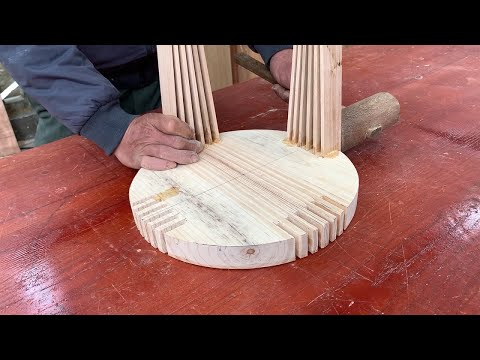 Amazing Craft Wood Design And Processing Ideas // Creative And Extremely Unique Outdoor Wooden Chair