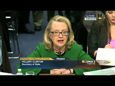Secretary Clinton Opening Statement on Benghazi Attack before Senate (C-SPAN)