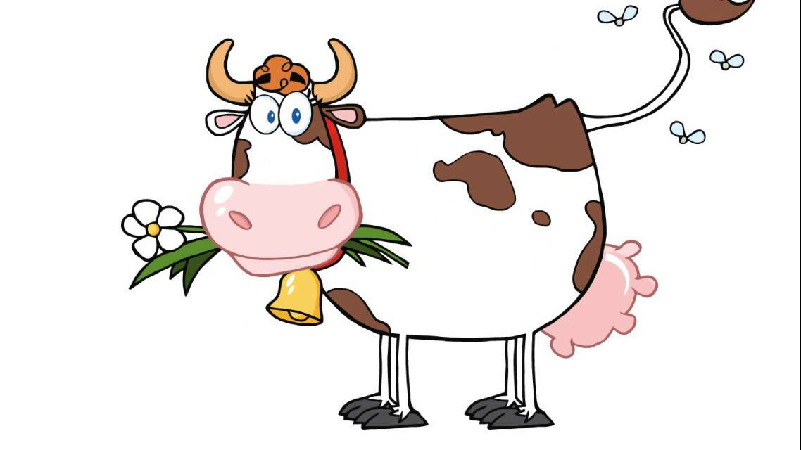 Cómo dibujar una vaca lechera - YouTube