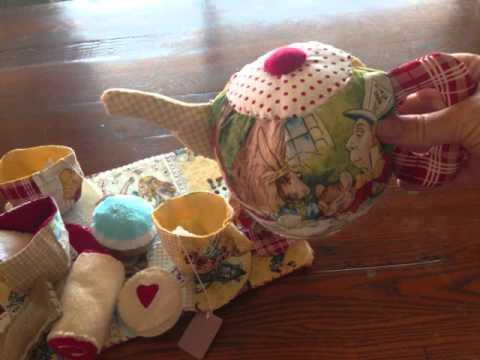 Alice In Wonderland Themed Fabric Tea set