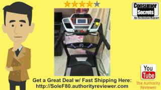 review sale sole fitness f80 folding treadmill