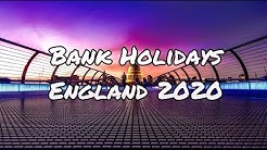 Bank Holidays in England for 2020