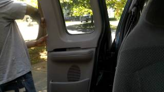 How to remove back door trim panels on a 2000 Ford F150