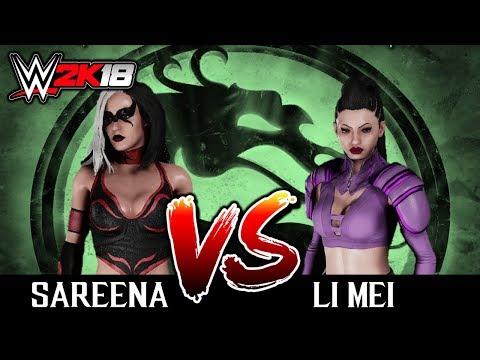 #02 WWE2K18: SAREENA VS LI MEI [TORNEIO DO MORTAL KOMBAT NO WW2K18] thumbnail