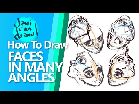 HOW TO DRAW FACES FROM ALL ANGLES - A Process tutorial