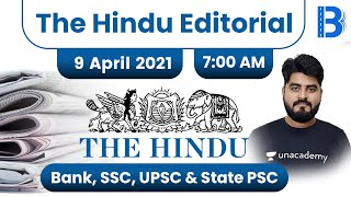 7:00 AM - The Hindu Editorial Analysis by Vishal Parihar | The Hindu Analysis | 9 April 2021