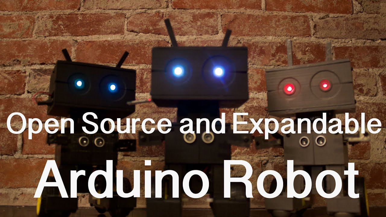 D printed open source robot with arduino youtube