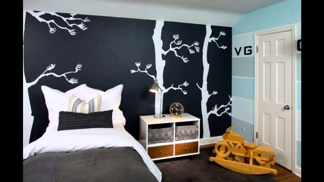 Teenage bedroom paint ideas - YouTube